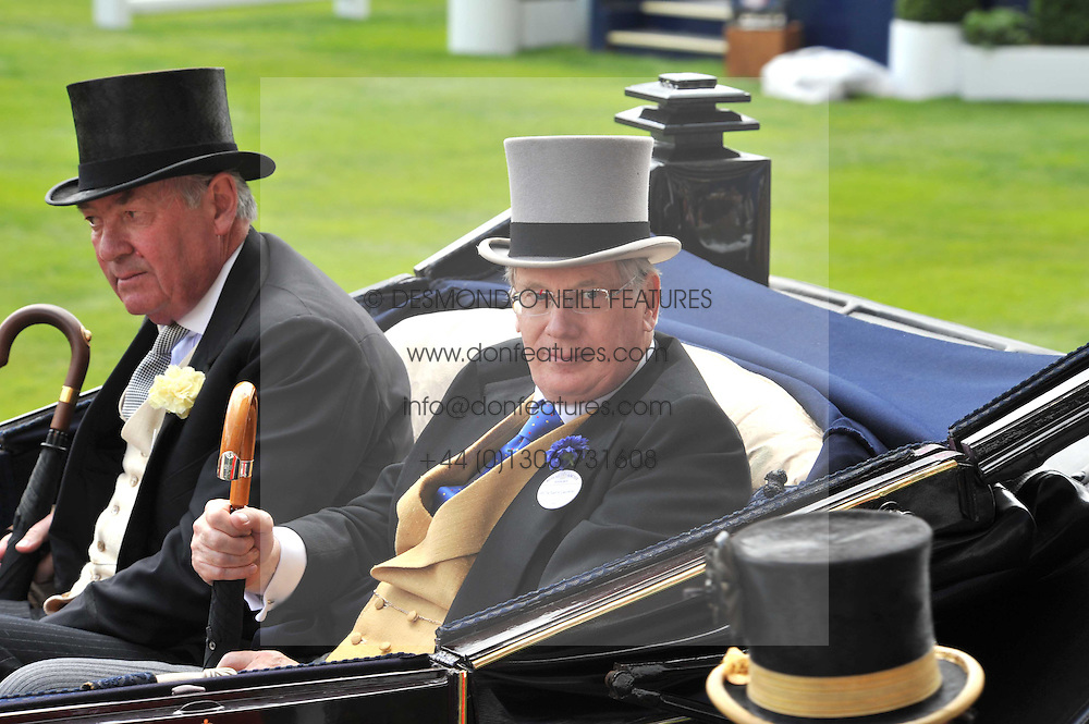Left to right, LORD VESTEY and HRH the DUKE OF GLOUCESTER  at the Royal Ascot racing festival 2009 held on 17th June 2009.