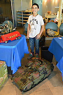 Garden City, New York. 15th June 2013. ANTON KHOURY, of Brookhaven, is one of the youngest vendors at Eternal Con Pop Culture Expo, which was hosted by the Cradle of Aviation Museum of Long Island. Anton custom makes GI Joe tanks and items for his Collect-M-All.