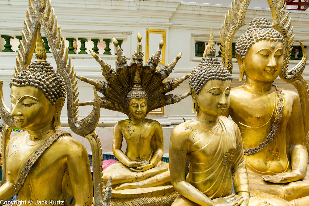 08 MAY 2013 - BANGKOK, THAILAND:  Statues of the Buddha for sale on Thanon Bamrung Muang. Th Bamrung Muang is one of the first paved roads in Bangkok. Many shops that sell Buddhist religious supplies and statuary are located on Bumrang Muang.       PHOTO BY JACK KURTZ