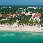 Aerial view of the Riu Palace on Playacar. Playa del Carmen. Mexico