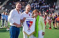AMSTERDAM - Final EuroHockey Club Cup 2019 Women, AH&BC Amsterdam (NED)-Real Sociedad (ESP) . Marijke Fleuren , Marc Staal, Erich Schnoeckel    COPYRIGHT  KOEN SUYK WORLDSPORTPICS