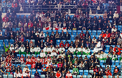 The XXII Winter Olympic Games 2014 in Sotchi, Olympics, Olympische Winterspiele Sotschi 2014<br /> Opening ceremony, <br /> Participants of the games in the stands, nations, athlettes