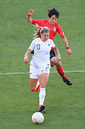 MELBOURNE, VIC - MARCH 06: Anna Green (3) of New Zealand runs the ball downfield during The Cup of Nations womens soccer match between New Zealand and Korea Republic on March 06, 2019 at AAMI Park, VIC. (Photo by Speed Media/Icon Sportswire)