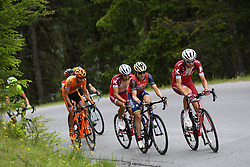 June 16, 2017 - Solden, Suisse - SOLDEN, AUSTRIA - JUNE 16 : SPILAK Simon (SLO) Rider of Team Katusha - Alpecin, IZAGIRRE Ion of Bahrain Merida Pro Cycling Team, TAARAMAE Rein (EST) Rider of Team Katusha - Alpecin during stage 7 of the Tour de Suisse cycling race, a stage of 160 kms between Zernez and Solden on June 16, 2017 in Solden, Austria, 16/06/2017 (Credit Image: © Panoramic via ZUMA Press)