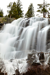 """""""Eagle Falls 1"""" - Photograph of Eagle Falls near Emerald Bay, Lake Tahoe flowing strong in the spring."""