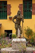 Statue near Pisac market  Pisac, Peru