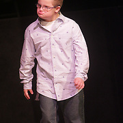Mason Pannett walks the runway during the I Am Beautiful fashion show to benefit the Miracle League of Wilmington. (Jason A. Frizzelle)