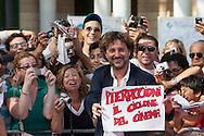 Giffoni Valle Piana (SA) 16.07.2012 - Giffoni Film Festival 2012. Leonardo Pieraccioni firma autografi sul red carpet.  Foto Giovanni Marino