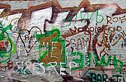 Graffiti in Werregaren Straat, Ghent, Belgium