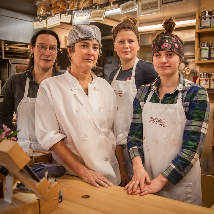 Dana, Janice, Jaymi and Katie at Fire Island Bakery in Anchorage's South Addition neighborhood