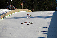 Andreas Kuettel (SUI) competes in the World Cup Ski Jumping competition at Whistler Olympic Park on Sunday January 25, 2009