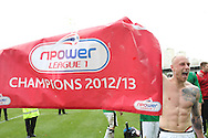 Picture by David Horn/Focus Images Ltd +44 7545 970036.27/04/2013.David Cotterill of Doncaster Rovers celebrates becoming the nPower League 1 Champions after the npower League 1 match at Griffin Park, London.