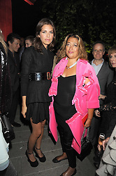 Left to right, DASHA ZHUKOVA and ZAHA HADID at the annual Serpentine Gallery Summer Party in Kensington Gardens, London on 9th September 2008.