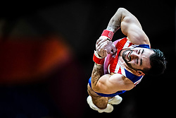 October 29, 2018 - Doha, Qatar - James Hall of  Great Britain   during  Vault, Team final for Men at the Aspire Dome in Doha, Qatar, Artistic FIG Gymnastics World Championships on October 29, 2018. (Credit Image: © Ulrik Pedersen/NurPhoto via ZUMA Press)