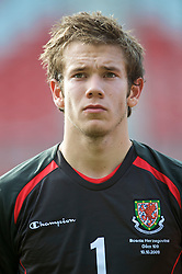 WREXHAM, WALES - Saturday, October 10, 2009: Wales' goalkeeper Chris Maxwell before the UEFA Under-21 Championship Qualifying Round Group 3 match against Bosnia-Herzegovina at the Racecourse Ground. (Pic by Chris Brunskill/Propaganda)