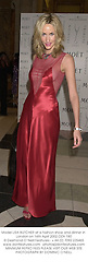 Model LISA BUTCHER at a fashion show and dinner in London on 16th April 2002.	OZA 180