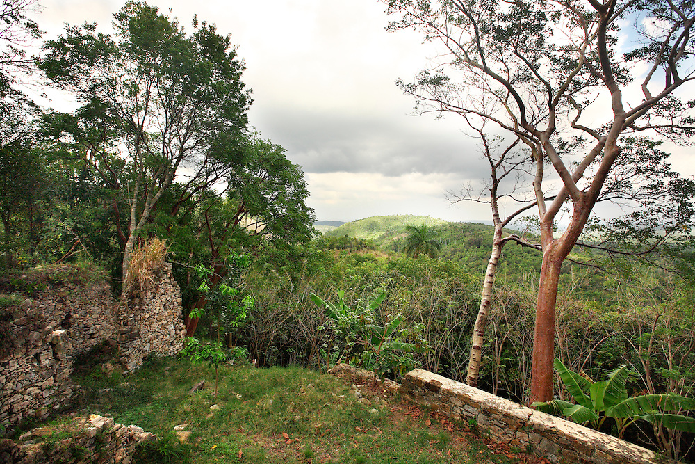 The ruins of the Buenavista coffee plantation in Las Terrazas, Cuba are now a restaurant and tourist location.