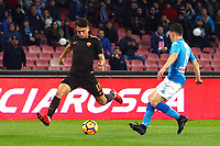 Gol Cengiz Under Roma 1-1 goal celebration <br /> Napoli 03-03-2018  Stadio San Paolo <br /> Football Campionato Serie A 2017/2018 <br /> Napoli - AS Roma<br /> Foto Gino Mancini / Insidefoto