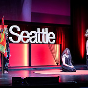 Tall Order TEDx Seattle 2018. Jono Vaughn (artist). Photo by Alabastro Photography.