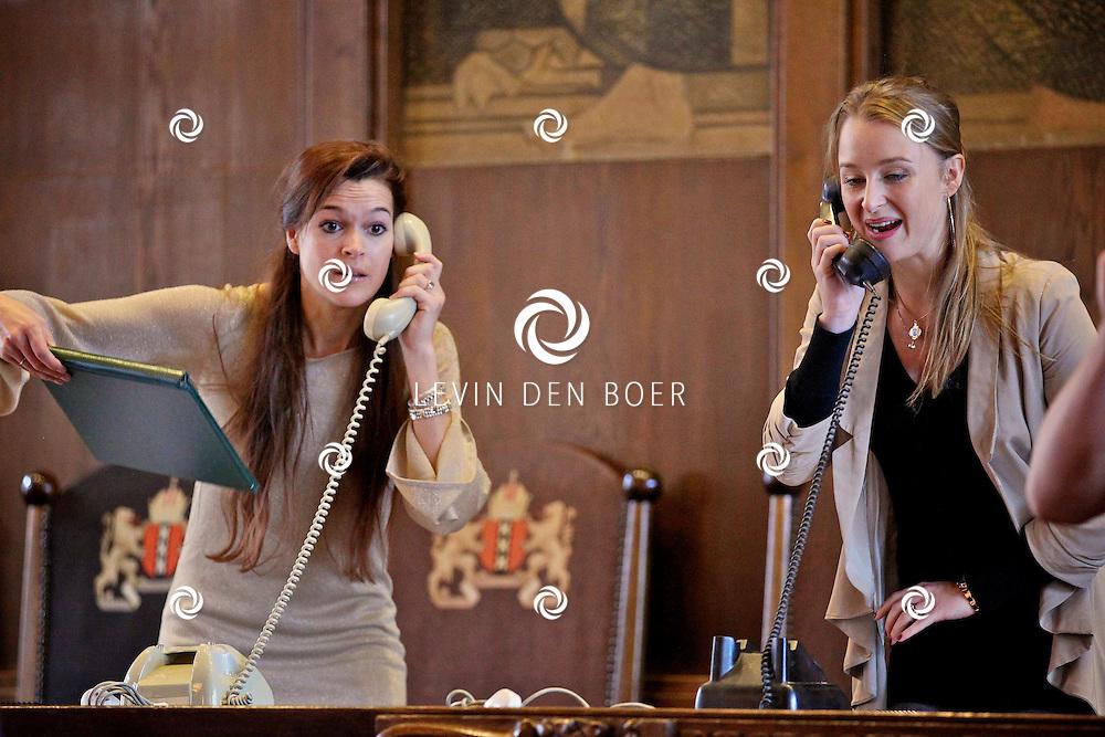 AMSTERDAM - Eind april en begin mei is de bekroonde musicalGrand Hotelvoor het eerst te zien in Nederland en wel op een unieke locatie: het vijfsterrenhotel Sofitel Legend The Grand Amsterdam. Vandaag maakte producent M-Lab de casting van de hoofdrollen bekend.  Met op de foto Pien van Gerven en Nadine Termeer. FOTO LEVIN DEN BOER - PERSFOTO.NU