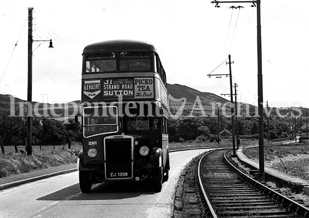One of the old C.I.E buses in 1959.<br /> (Part of the Independent Newspapers  Ireland/NLI Collection)