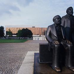 Marx-Engels Statue, Berlin, German Democratic Republic (1989)