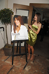 LISA B at a party to celebrate the publication of Lisa B's book 'Lifestyle Essentials' held at the Cook Book Cafe, Intercontinental Hotel, Park Lane London on 10th April 2008.<br />