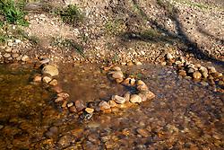 Rock art, or perhaps a rock pool; in Lourens River, as it runs through Radloff Park, in Somerset West, Western Cape, July 7, 2020. PHOTO: EVA-LOTTA JANSSON