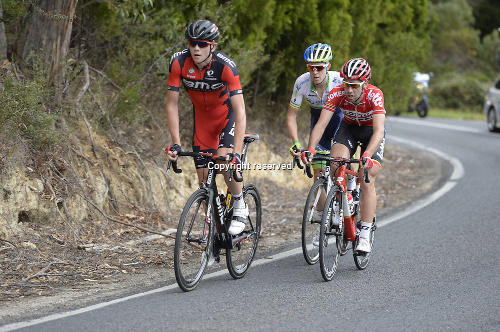 21.01.2015. Unley to Stirling. Tour Down Under cycling tour.  Bmc 2015, Lotto Soudal 2015, Orica GreenEdge 2015, Flakemore Campbell, De Gendt Thomas, Meyer Cameron, Basket Range