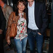 NLD/Amsterdam/20120531 - Presentatie kledinglijn Johan Cruijff Apparel Collection, Wim Jonk en partner Gina van Vlaanderen
