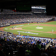 Edinson Volquez, Kansas City Royals, pitching during the New York Mets Vs Kansas City Royals, Game 5 of the MLB World Series at Citi Field, Queens, New York. USA. 1st November 2015. Photo Tim Clayton