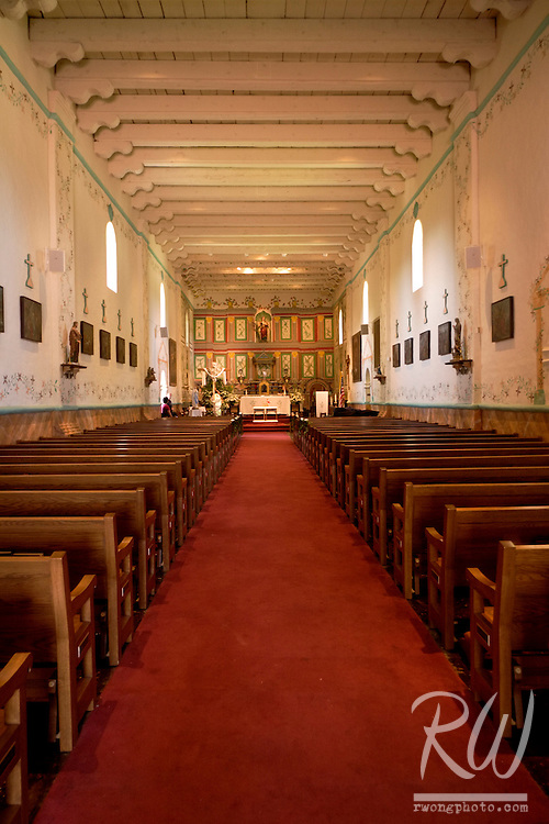 Mission Santa Ines Church Interior, Solvang, California