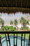 View from bedroom of beach villa