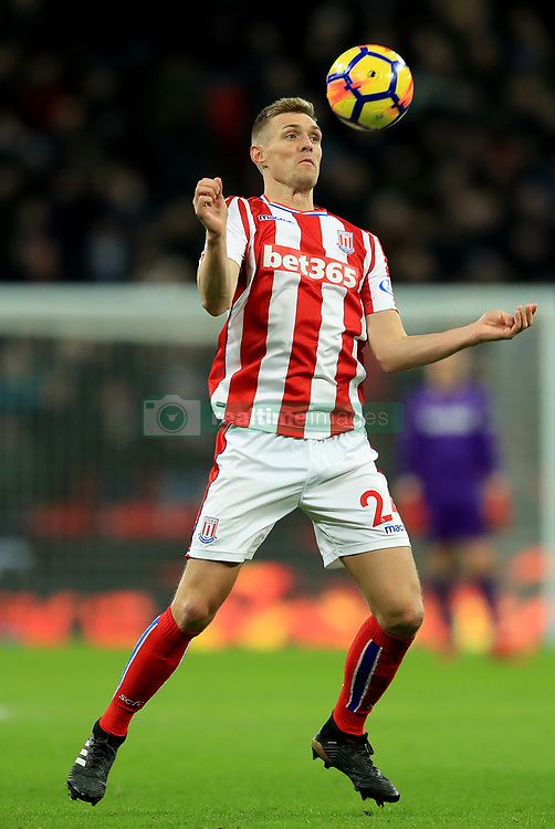 """Stoke City's Darren Fletcher during the Premier League match at Wembley Stadium, London. PRESS ASSOCIATION Photo. Picture date: Saturday December 9, 2017. See PA story SOCCER Tottenham. Photo credit should read: Adam Davy/PA Wire. RESTRICTIONS: EDITORIAL USE ONLY No use with unauthorised audio, video, data, fixture lists, club/league logos or """"live"""" services. Online in-match use limited to 75 images, no video emulation. No use in betting, games or single club/league/player publications."""