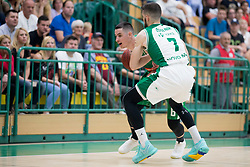 Jan Span of KK Petrol Olimpija Ljubljana during basketball match between KK Krka Novo mesto and  KK Petrol Olimpija in 2nd Final game of Liga Nova KBM za prvaka 2017/18, on May 22, 2018 in Sports hall Leona Stuklja, Novo mesto, Slovenia. Photo by Urban Urbanc / Sportida