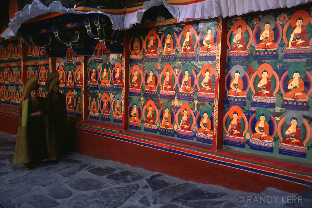 Tibet monastery and monks