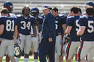 Ole Miss coach Houston Nutt as the Rebels hold a scrimmage at Vaught-Hemingway Stadium in Oxford, Miss. on Saturday, April 2, 2011.