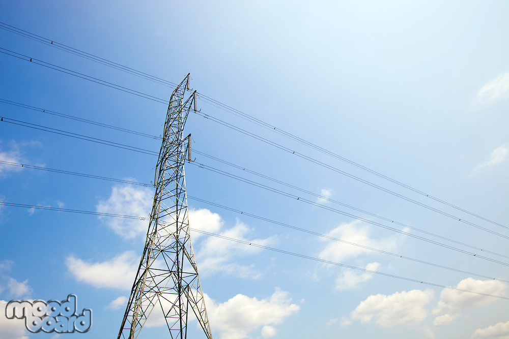 Electricity Pylon against clear sky