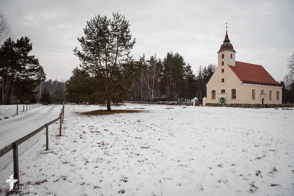 The grounds surrounding the parish of The Evangelical Lutheran Church of Latvia in rural Skulte, seen on Wednesday, Feb. 4, 2015, are the proposed site for a new Diaconia project. LCMS Communications/Erik M. Lunsford
