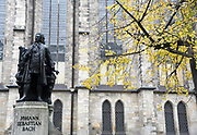 Statue of Johann Sebastian Bach outside of the Thomaskirche, (St. Thomas Church) Leipzig, Germany