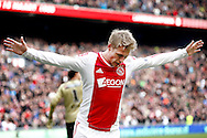 Onderwerp/Subject: Ajax - Eredivisie<br /> Reklame:  <br /> Club/Team/Country: <br /> Seizoen/Season: 2012/2013<br /> FOTO/PHOTO: Viktor FISCHER of Ajax celebrating his first goal ( 1 - 0 ). (Photo by PICS UNITED)<br /> <br /> Trefwoorden/Keywords: <br /> #02 #09 $94 ±1355239233217<br /> Photo- & Copyrights © PICS UNITED <br /> P.O. Box 7164 - 5605 BE  EINDHOVEN (THE NETHERLANDS) <br /> Phone +31 (0)40 296 28 00 <br /> Fax +31 (0) 40 248 47 43 <br /> http://www.pics-united.com <br /> e-mail : sales@pics-united.com (If you would like to raise any issues regarding any aspects of products / service of PICS UNITED) or <br /> e-mail : sales@pics-united.com   <br /> <br /> ATTENTIE: <br /> Publicatie ook bij aanbieding door derden is slechts toegestaan na verkregen toestemming van Pics United. <br /> VOLLEDIGE NAAMSVERMELDING IS VERPLICHT! (© PICS UNITED/Naam Fotograaf, zie veld 4 van de bestandsinfo 'credits') <br /> ATTENTION:  <br /> © Pics United. Reproduction/publication of this photo by any parties is only permitted after authorisation is sought and obtained from  PICS UNITED- THE NETHERLANDS