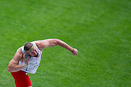 Tomasz Majewski from Poland competes in men's shot put qualification during the 14th IAAF World Athletics Championships at the Luzhniki stadium in Moscow on August 15, 2013.<br /> <br /> Russian Federation, Moscow, August 15, 2013<br /> <br /> Picture also available in RAW (NEF) or TIFF format on special request.<br /> <br /> For editorial use only. Any commercial or promotional use requires permission.<br /> <br /> Mandatory credit:<br /> Photo by © Adam Nurkiewicz / Mediasport