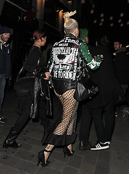 Singer Rita Ora, boyfriend Ricky Hilfiger, Pixie Geldof, Vas J Morgan and friends partying on a night out at Cirque le Soir nightclub in Carnaby St. London. UK. 09/10/2014<br />