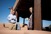 Former Merrill Lynch executive James A. Brown and his wife Nancy sip coffee on the patio of their Santa Fe New Mexico home on October 15, 2010...Credit: Steven St. John for The Wall Street Journal.ENRON