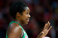 SYDNEY, AUSTRALIA - AUGUST 24: Jhaniele Fowler of the West Coast Fever during the round 14 Super Netball match between the Giants and the West Coast Fever at Qudos Bank Arena on August 24, 2019 in Sydney, Australia.(Photo by Speed Media/Icon Sportswire)