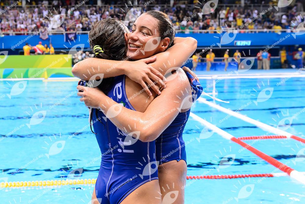 DI MARIO Tania, BIANCONI Roberta <br /> Rio de Janeiro 19-08-2016 Olympic Aquatics Stadium  - Water Polo <br /> USA - ITALY Final <br /> Foto Andrea Staccioli/Deepbluemedia/Insidefoto