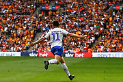 GOAL 1-0 Tranmere Rovers forward Connor Jennings (11) scores and celebartes during the EFL Sky Bet League 2 Play Off Final match between Newport County and Tranmere Rovers at Wembley Stadium, London, England on 25 May 2019.