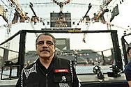 "ABU DHABI, UNITED ARAB EMIRATES, APRIL 10, 2010: Jacob ""Stitch"" Duran stands next to the octagon ahead of ""UFC 112: Invincible"" inside Ferari World, Abu Dhabi on April 10, 2010"
