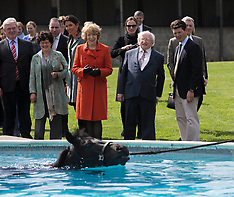 APR 10 2014 Irish President visits  Park House stables