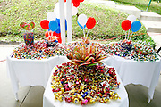 Santa Luzia_MG, Brasil...Detalhe de mesas com doces em Santa Luzia...Detail of tables with candies in Santa Luzia...Foto: LEO DRUMOND / NITRO